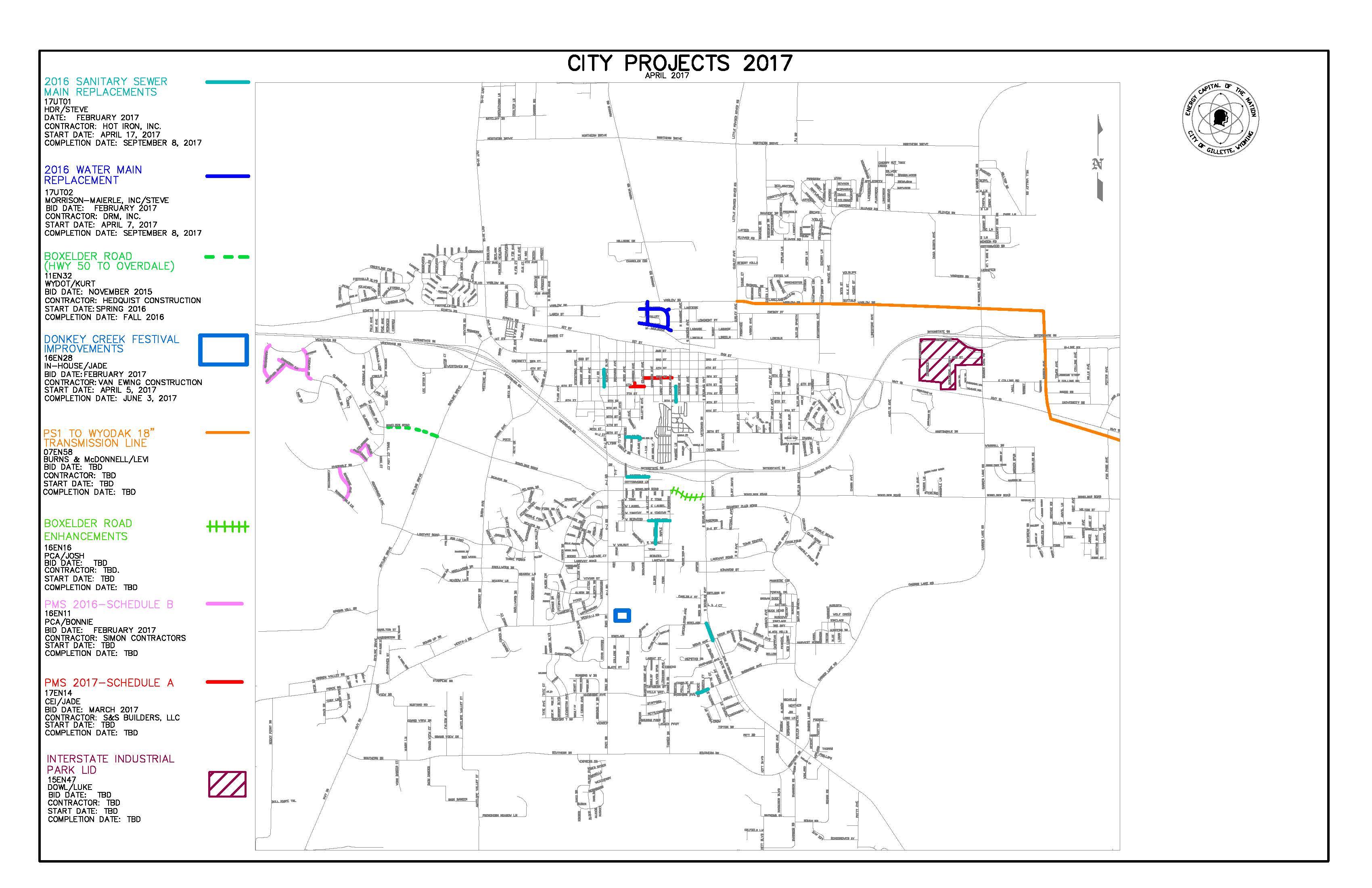 Gillette WY Maps - Wyo map