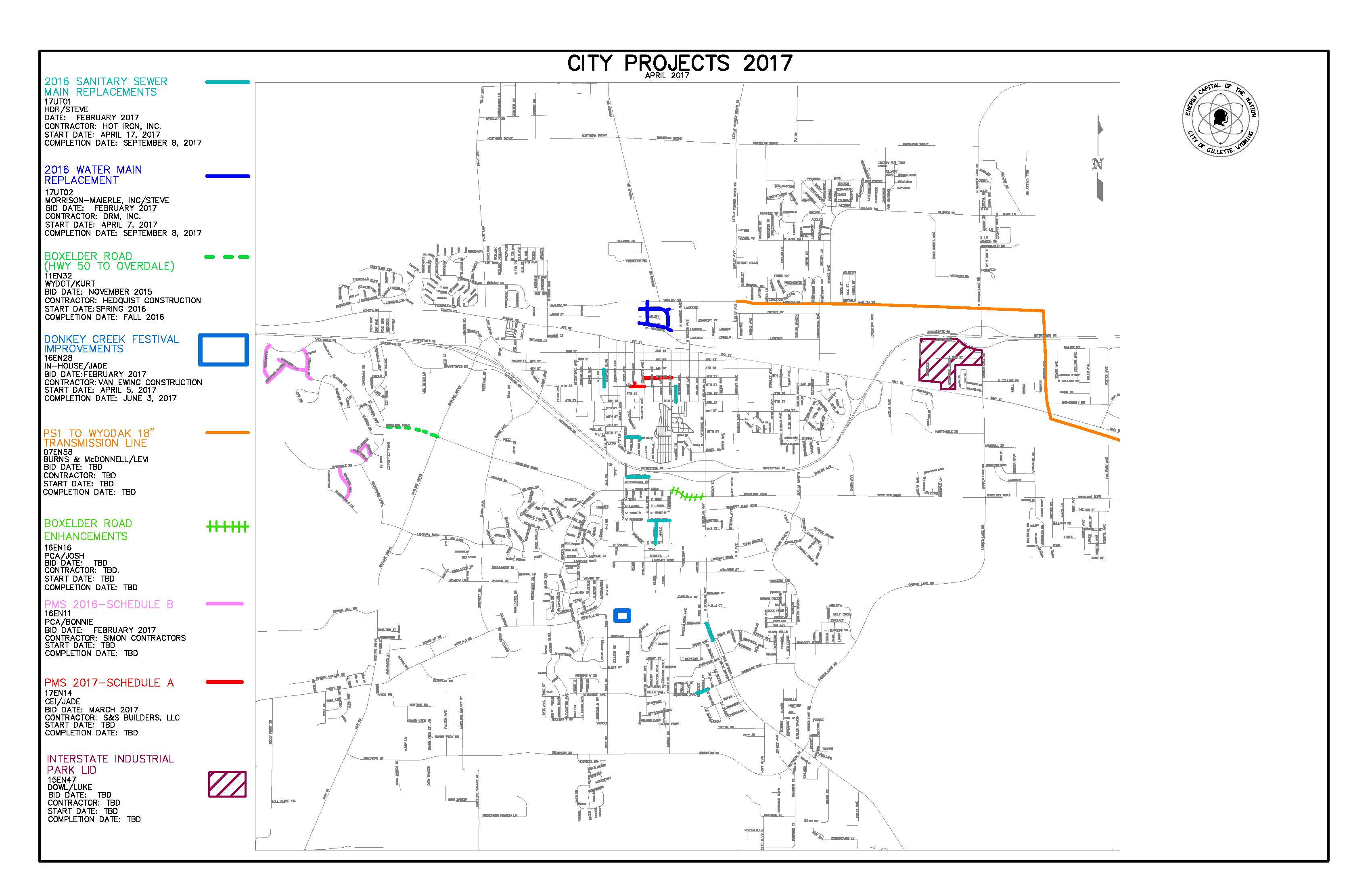 2017 CITY PROJECT MAP