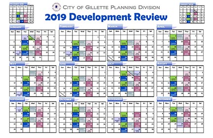 Dev Review 2019 Calendar