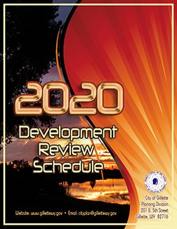 2020 Development Schedule Cover