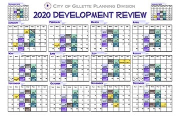 Dev Review 2020 Calendar