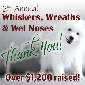 Whiskers, Wreaths and Wet Noses Silent Auction Success