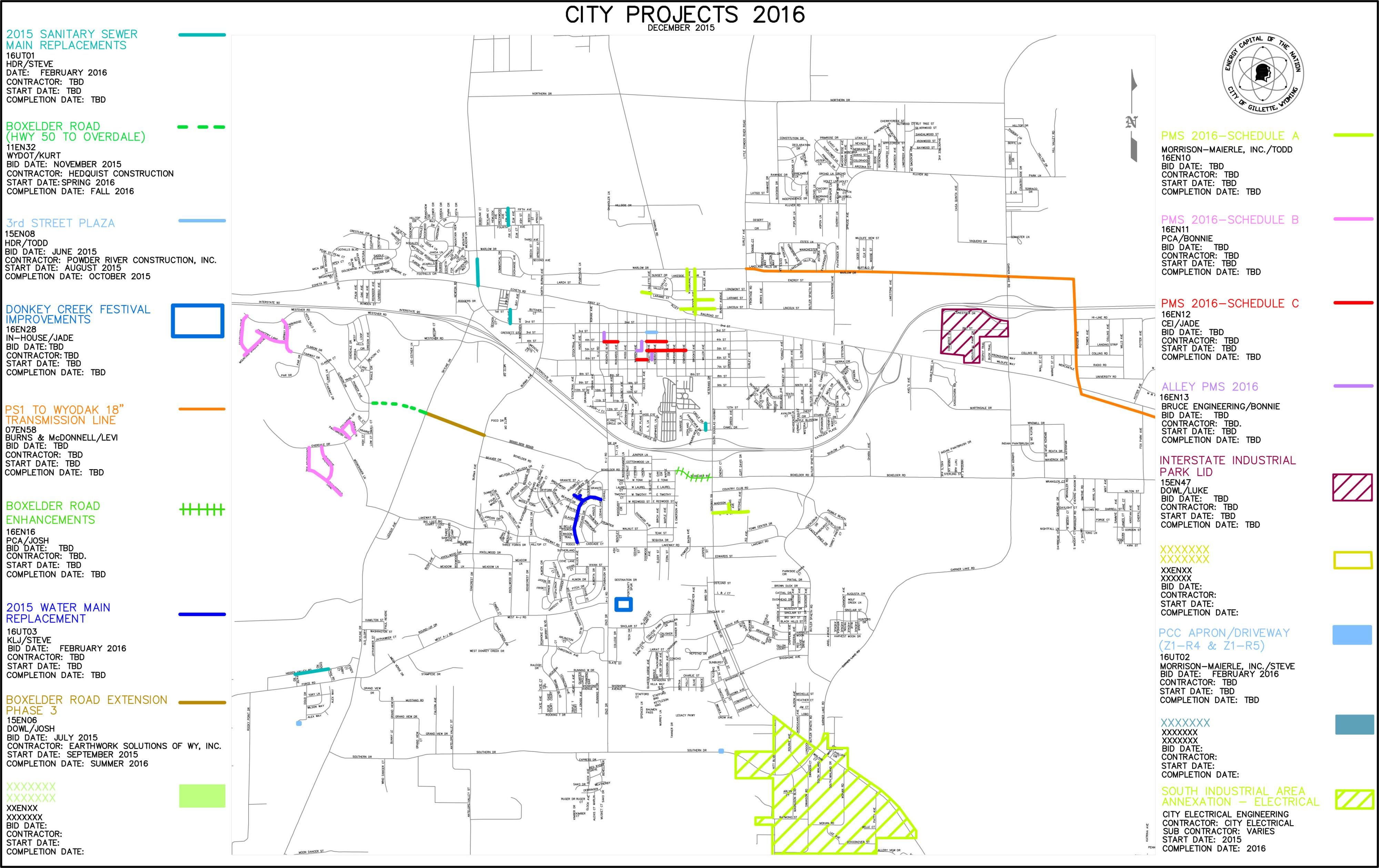 CITY PROJECT MAP 2016